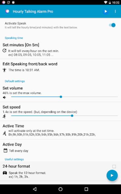 Hourly Reminder Pro (Talking) screenshot 16
