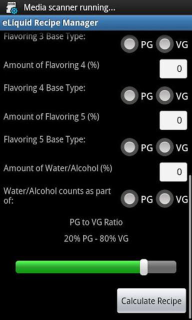 eLiquid Recipe Manager Pro screenshot 2