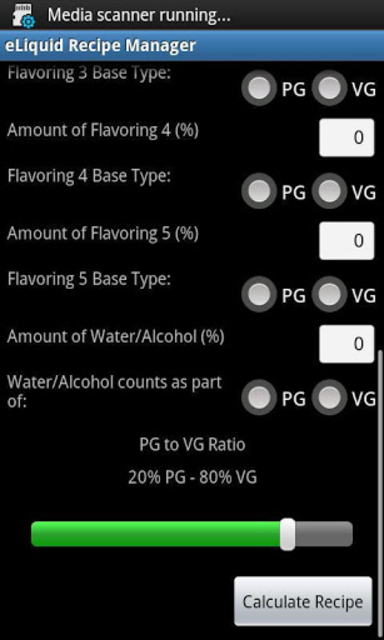 eLiquid Recipe Manager Pro screenshot 2