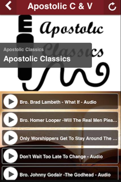 Apostolic C&V screenshot 2