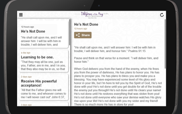 Daughters of the King Daily Devotionals screenshot 4