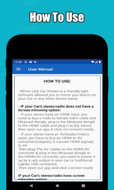 Mirror link car connector screenshot 3
