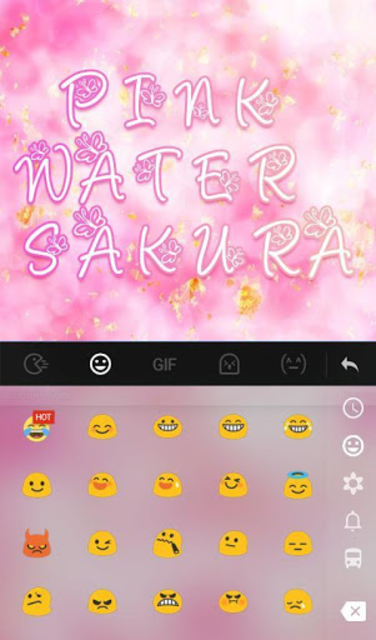 Pink Water Sakura Keyboard Theme screenshot 2
