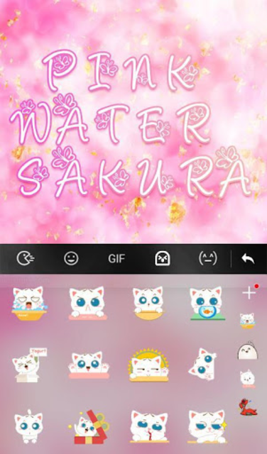 Pink Water Sakura Keyboard Theme screenshot 3