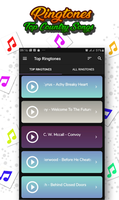 Best Country Ringtones Offline screenshot 1