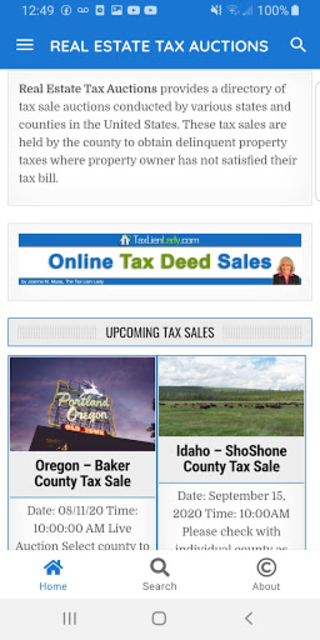 Real Estate Tax Auctions screenshot 2