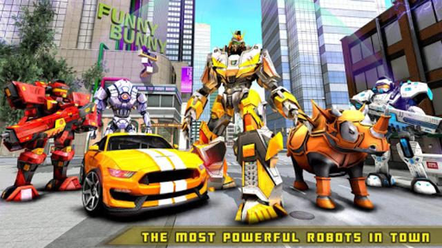 Rhino Robot Car transforming games – City battle screenshot 18