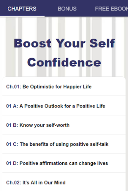 Boost Your Self Confidence screenshot 14