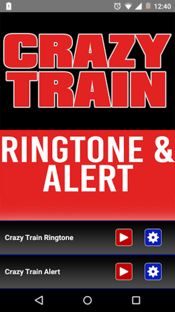 Crazy Train Ringtone and Alert screenshot 1