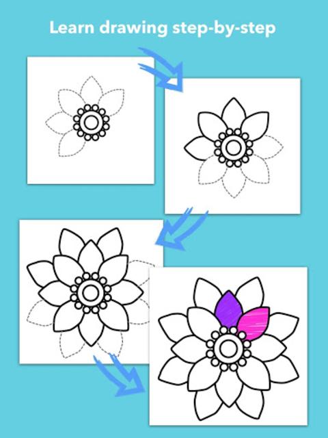 How To Draw Flowers screenshot 19