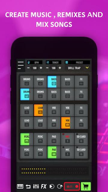 MixPads - Drum pad machine & DJ Audio Mixer screenshot 1