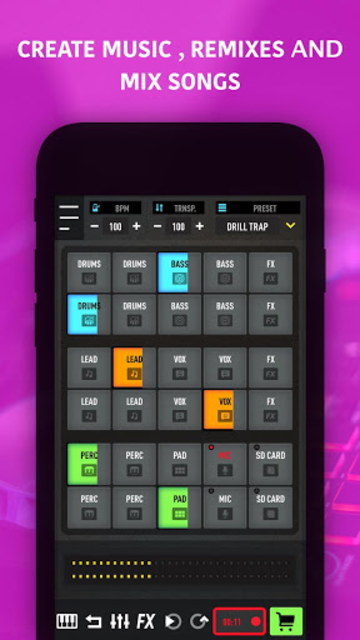 MixPads - Drum pad machine & DJ Audio Mixer screenshot 11