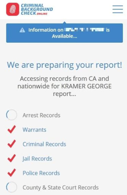 About: Criminal Background Check Online (Google Play version