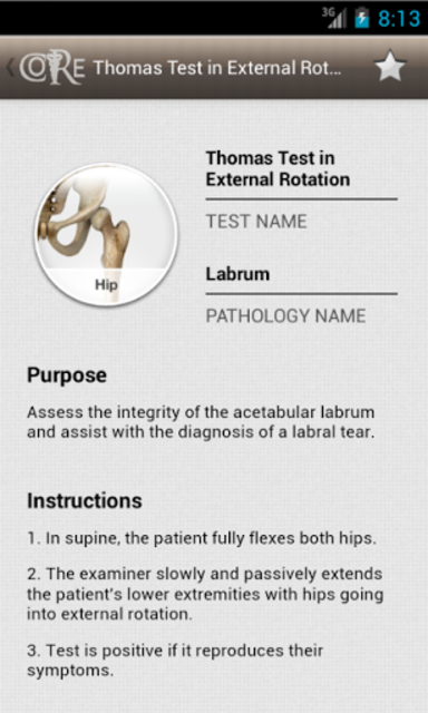 CORE-Clinical Orthopaedic Exam screenshot 5