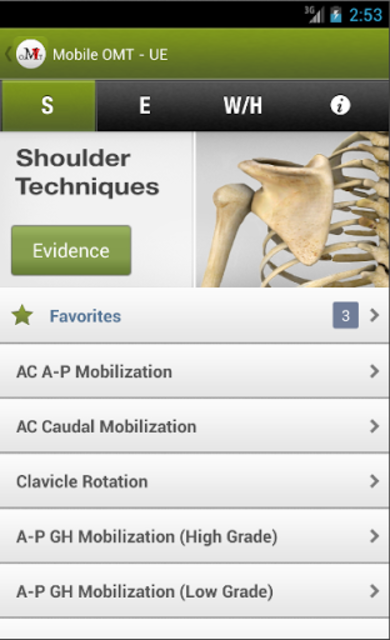 Mobile OMT Upper Extremity screenshot 1