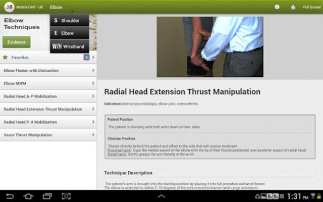 Mobile OMT Upper Extremity screenshot 8