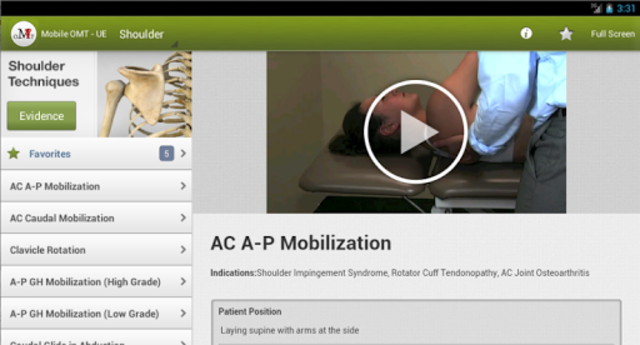 Mobile OMT Upper Extremity screenshot 11
