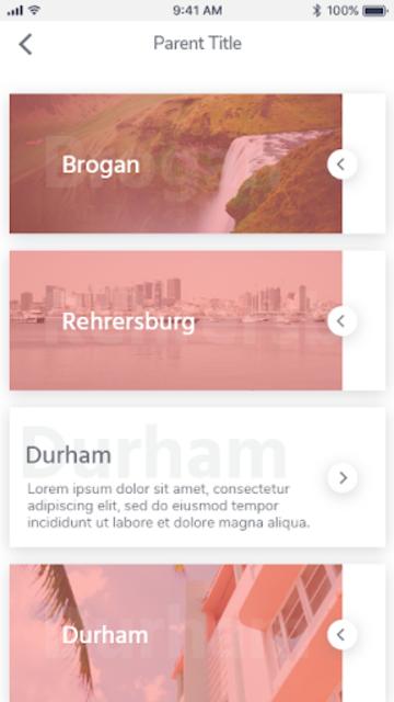 Ionic 3 UI/UX Multipurpose Theme - Flat Red Light screenshot 7
