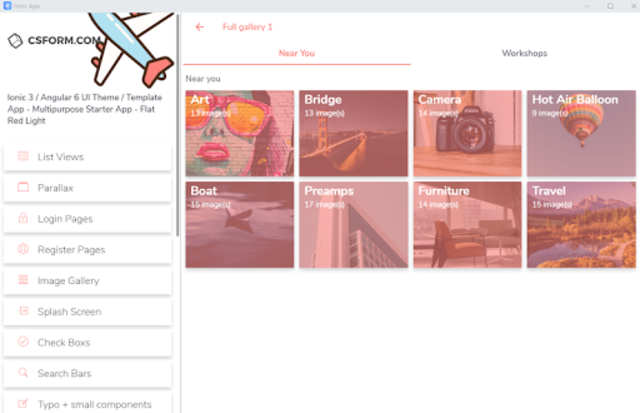 Ionic 3 UI/UX Multipurpose Theme - Flat Red Light screenshot 16