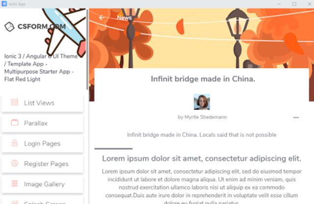 Ionic 3 UI/UX Multipurpose Theme - Flat Red Light screenshot 19
