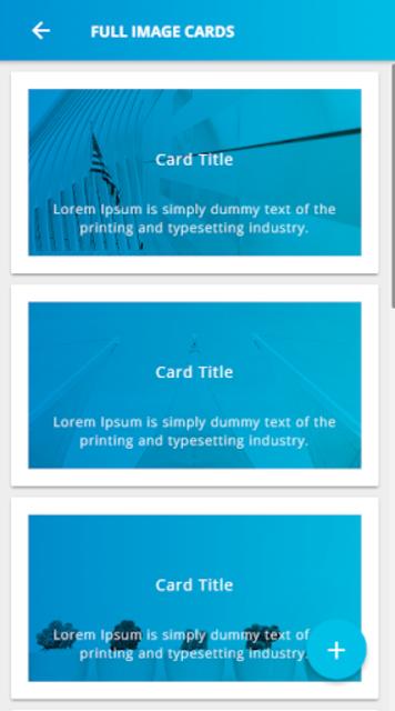Ionic 3 Material Design UI Template - Blue Light screenshot 1