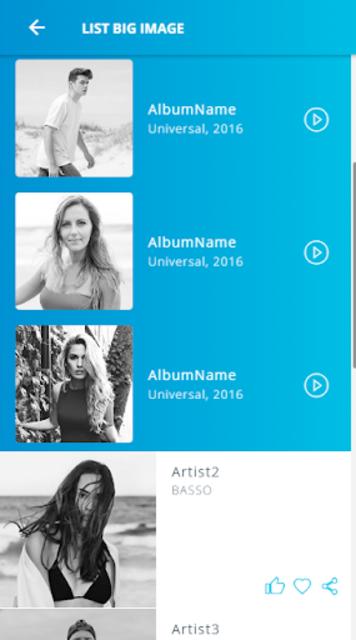 Ionic 3 Material Design UI Template - Blue Light screenshot 2