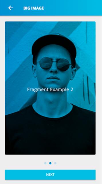 Ionic 3 Material Design UI Template - Blue Light screenshot 4