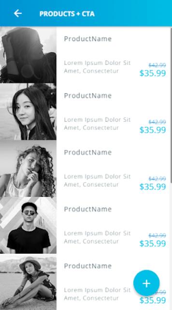 Ionic 3 Material Design UI Template - Blue Light screenshot 5