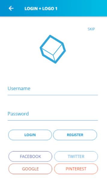 Ionic 3 Material Design UI Template - Blue Light screenshot 6
