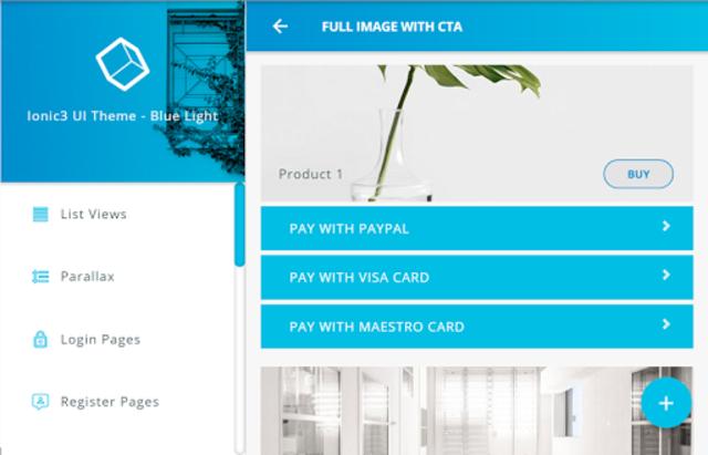 Ionic 3 Material Design UI Template - Blue Light screenshot 12