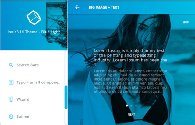 Ionic 3 Material Design UI Template - Blue Light screenshot 16