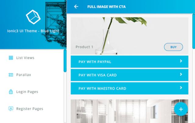 Ionic 3 Material Design UI Template - Blue Light screenshot 18