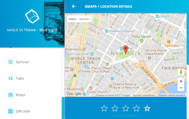 Ionic 3 Material Design UI Template - Blue Light screenshot 19