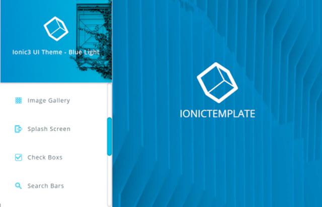 Ionic 3 Material Design UI Template - Blue Light screenshot 21