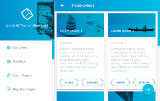 Ionic 3 Material Design UI Template - Blue Light screenshot 22
