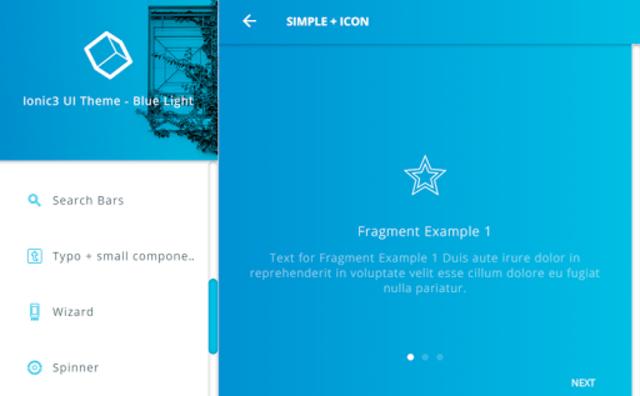 Ionic 3 Material Design UI Template - Blue Light screenshot 24