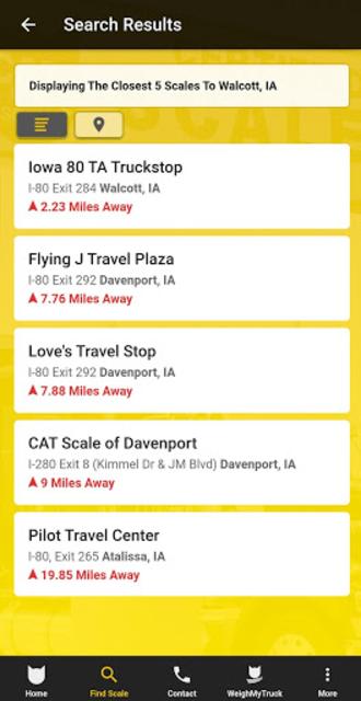 CAT Scale Locator screenshot 4