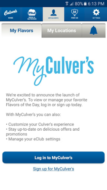 Culver's screenshot 2