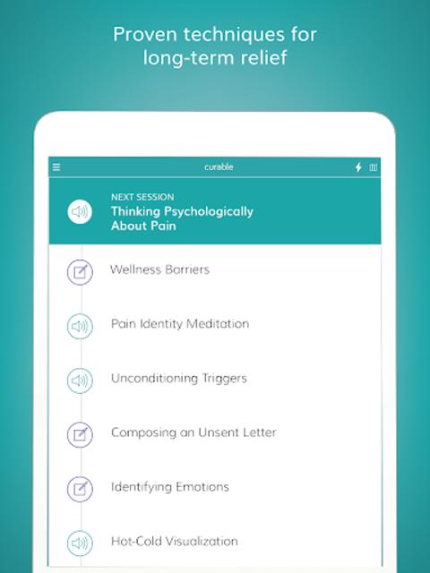 Curable: Back Pain, Migraine & Chronic Pain Relief screenshot 8