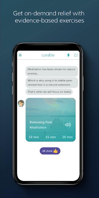 Curable: Back Pain, Migraine & Chronic Pain Relief screenshot 2