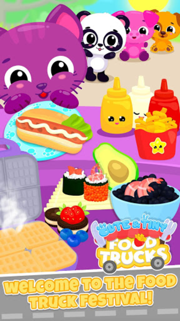 Cute & Tiny Food Trucks - Cooking with Baby Pets screenshot 4