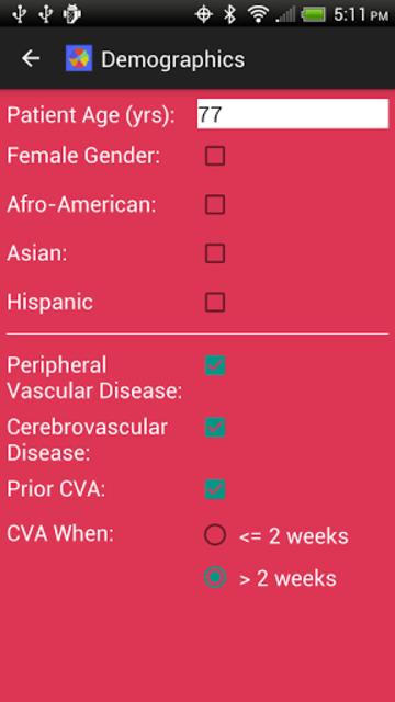 Adult Cardiac Surgery Risk screenshot 3