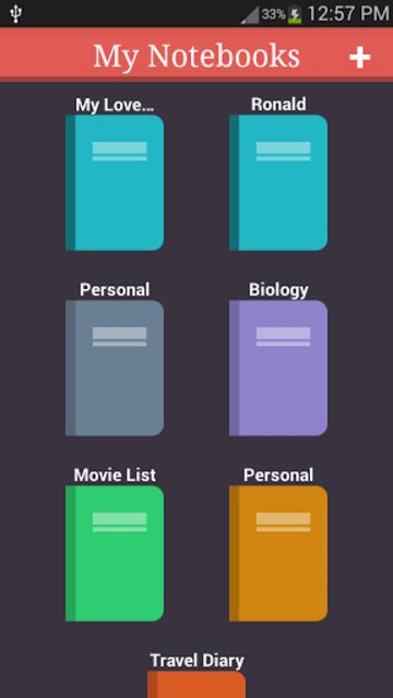 My Notebooks screenshot 1