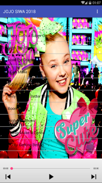 JOJO SIWA - Best Music Song Offline screenshot 2