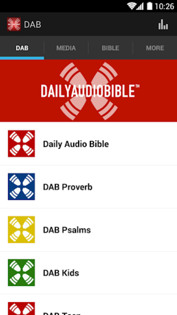 Daily Audio Bible App screenshot 1