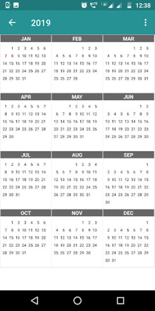 Calendar Daily - Planner 2020 screenshot 1