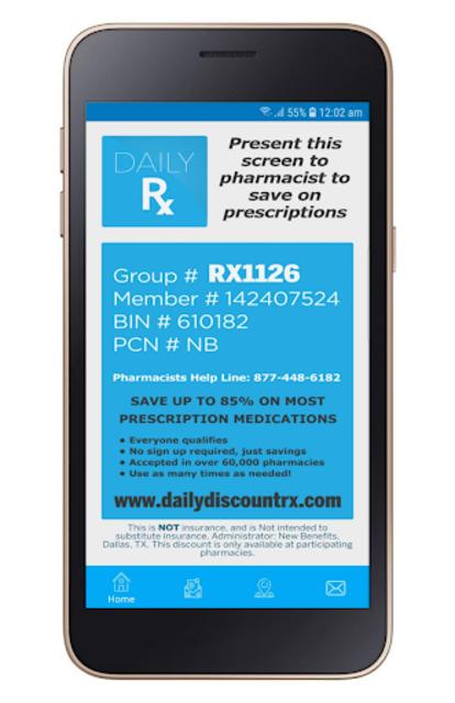 Daily Discount Prescription Drug App screenshot 1