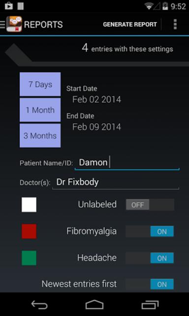 My Pain Diary screenshot 8
