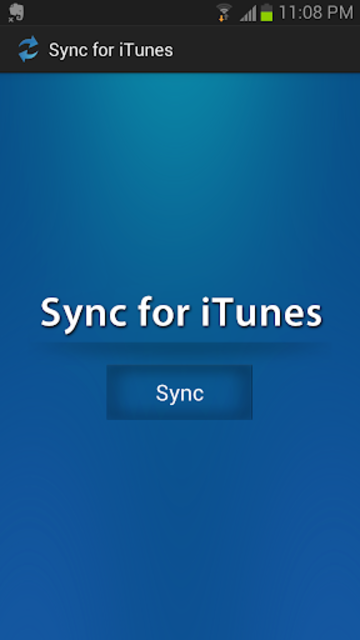 Sync for iTunes screenshot 1