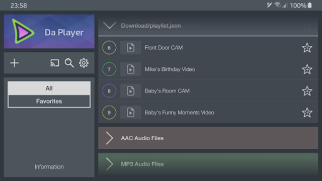 Da Player - Video and live stream player screenshot 5